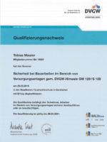 Startseite Qualifizierungsnachweis für Sicherheit bei Bauarbeiten an Versorgungsanlagen
