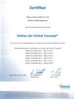 Startseite Zertifikat Einbau Schöck Tronsole
